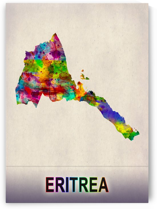 Eritrea Map in Watercolor by Towseef