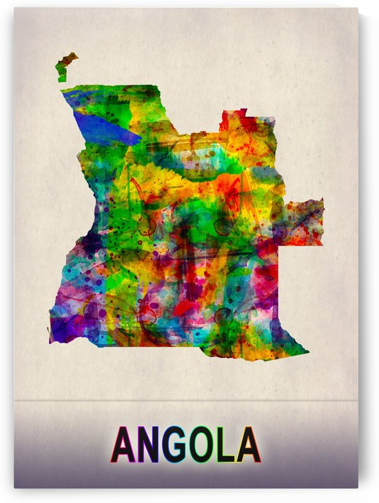 Angola Map in Watercolor by Towseef