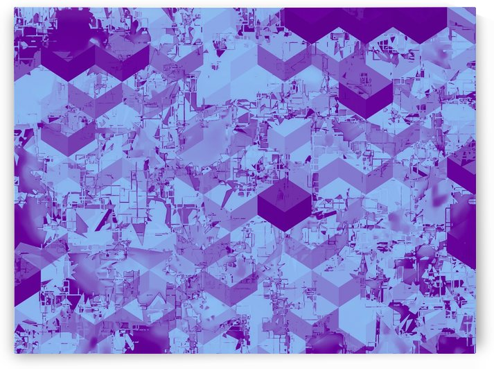 geometric square pixel pattern abstract background in purple by TimmyLA