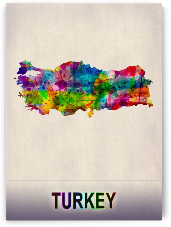 Turkey Map in Watercolor by Towseef