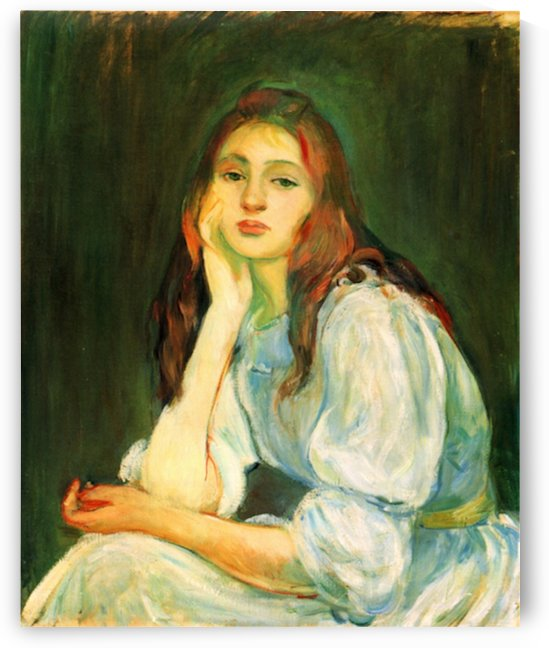Julie dreaming by Morisot by Morisot