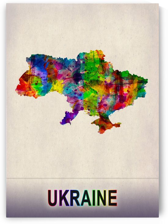 Ukraine Map in Watercolor by Towseef