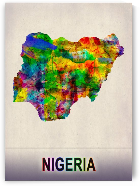 Nigeria Map in Watercolor by Towseef
