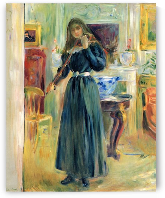 Julie playing violin by Morisot by Morisot