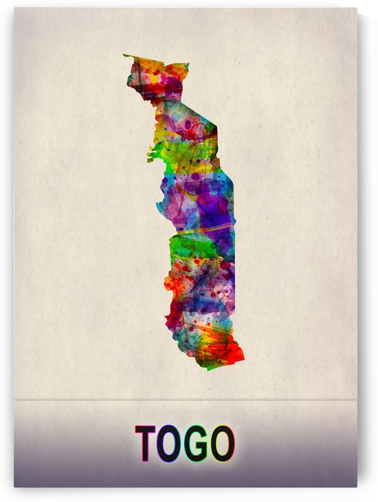 Togo Map in Watercolor by Towseef