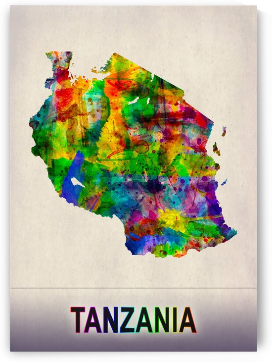Tanzania Map in Watercolor by Towseef
