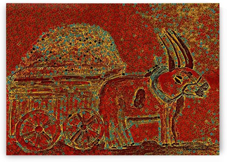 Oxen by Aurelia Schanzenbacher Sisters Fine Arts