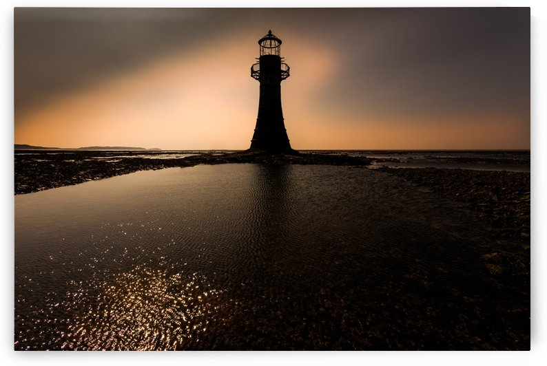 Whiteford lighthouse Gower by Leighton Collins
