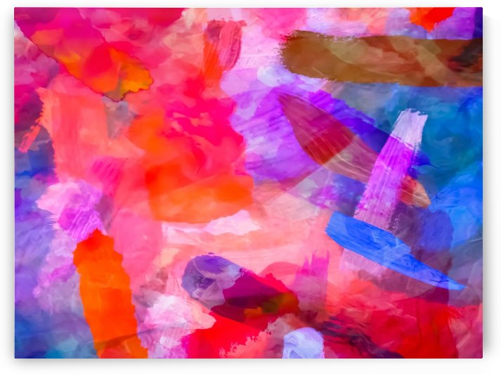 splash painting texture abstract background in purple pink red blue by TimmyLA