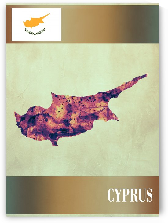 Cyprus Map with Flag by Towseef