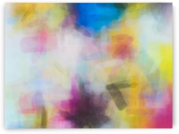splash painting texture abstract background in yellow pink blue by TimmyLA