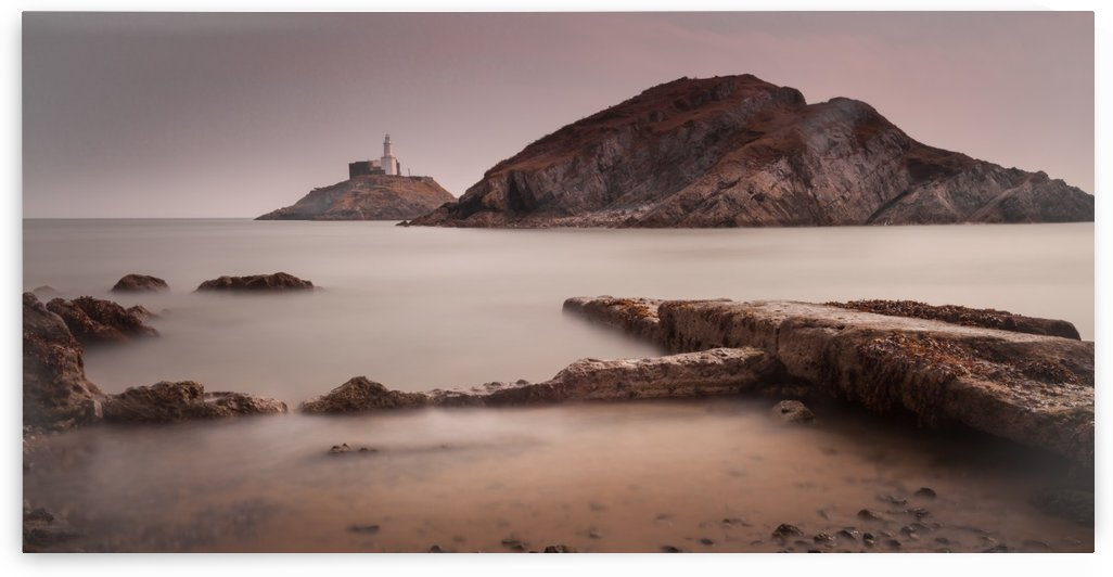 Mumbles lighthouse by Leighton Collins