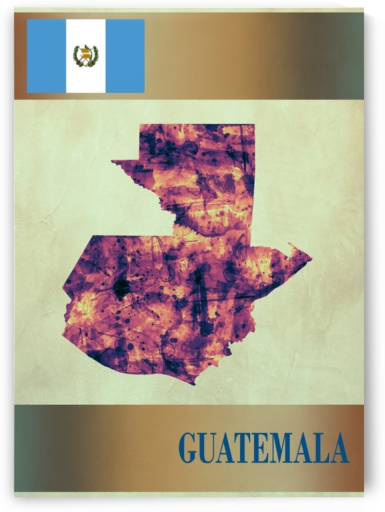 Guatemala Map with Flag by Towseef