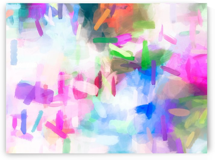 splash painting texture abstract background in pink blue green by TimmyLA