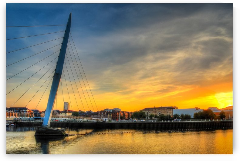 Swansea Millennium bridge  by Leighton Collins