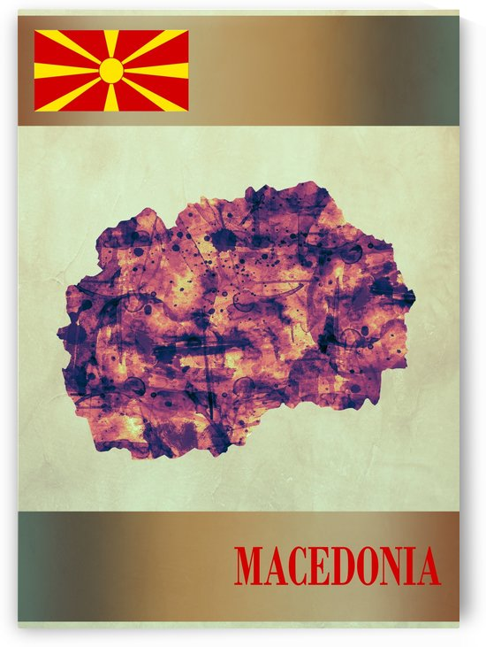 Macedonia Map with Flag by Towseef