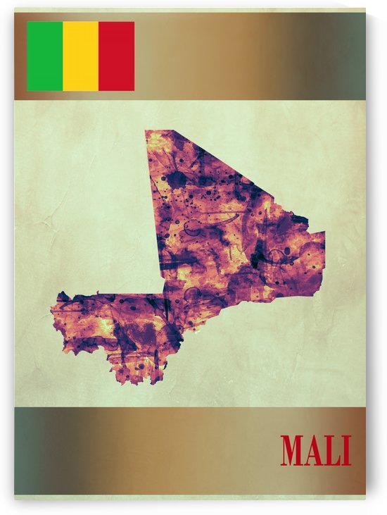Mali Map with Flag by Towseef