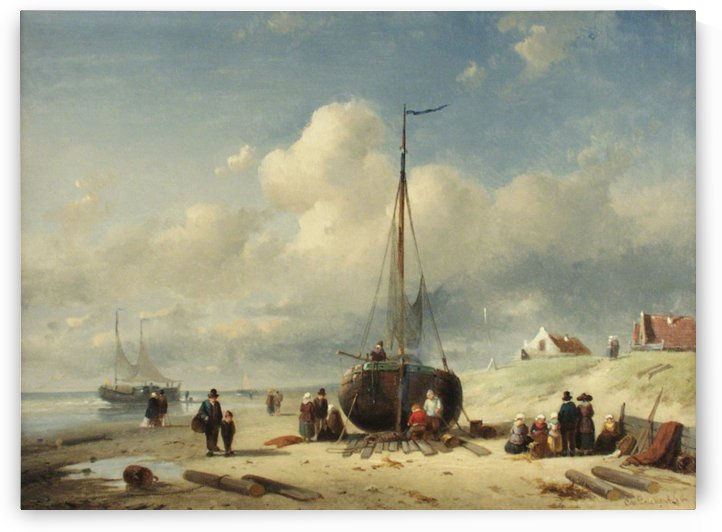 Repairing the Boat by Charles Henri Joseph Leickert