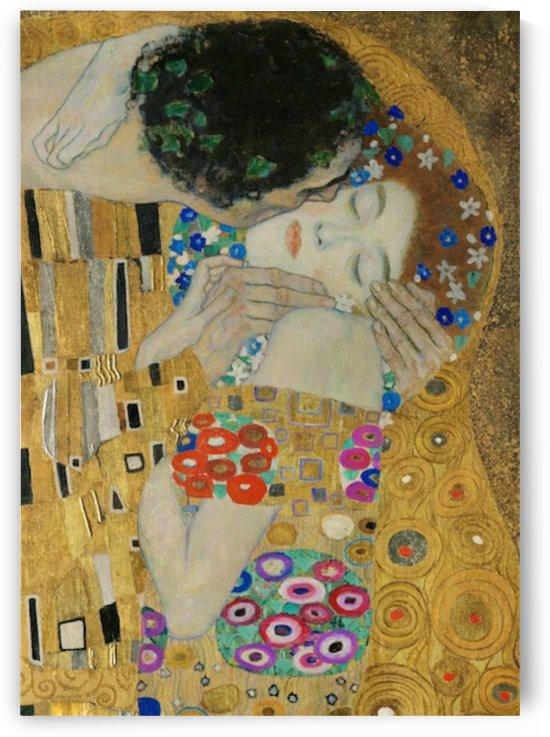 Klimt - The Kiss (detail) by Klimt