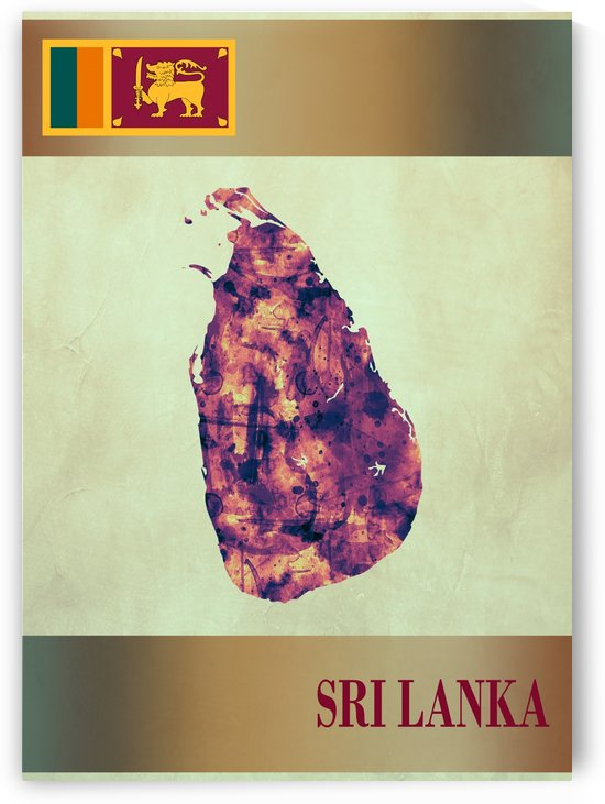 Sri Lanka Map with Flag by Towseef