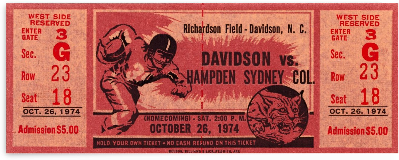 1974 davidson hampden sydney college richardson field by Row One Brand
