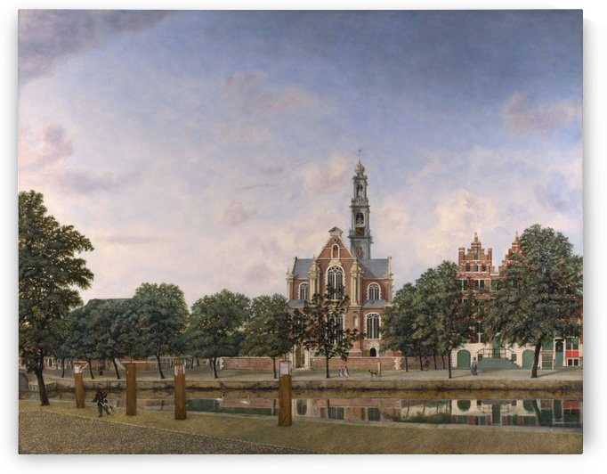 View of the Westerkerk, Amsterdam by Jan van der Heyden