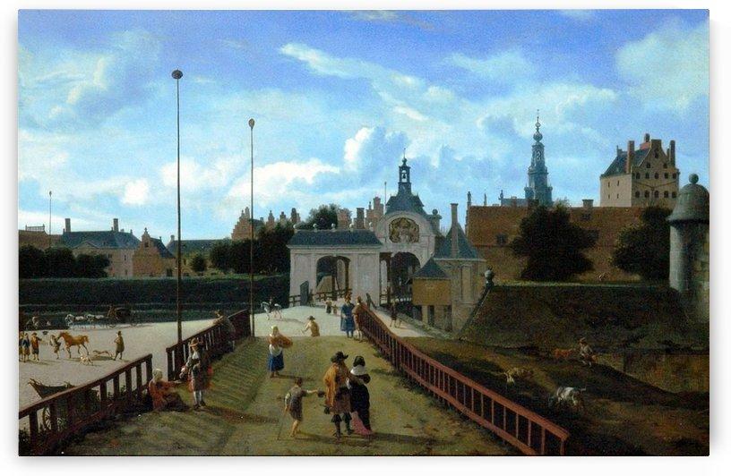 Gezicht op de Anthonispoort van Amsterdam by Jan van der Heyden