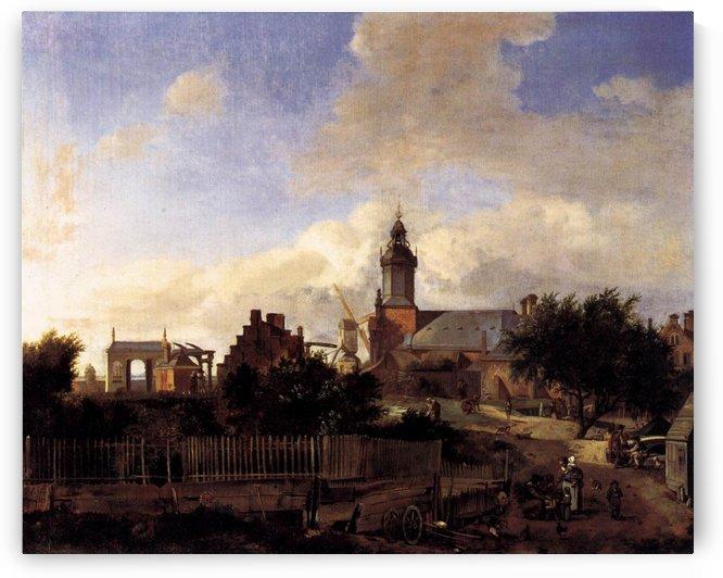 View of Delft by Jan van der Heyden