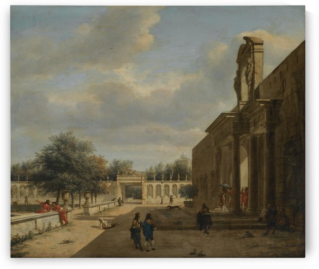 A Palatial Garden by Jan van der Heyden