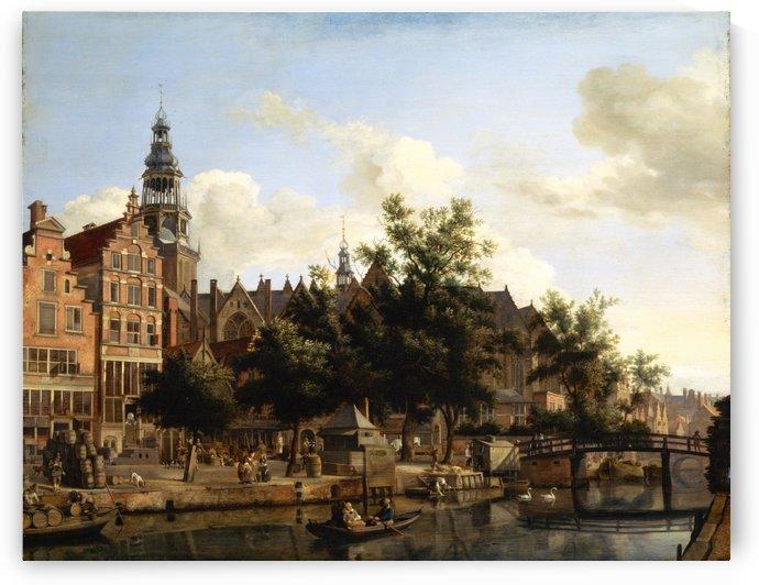 Dutch town by Jan van der Heyden