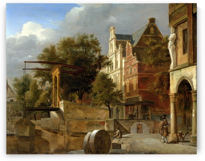 Along the canals by Jan van der Heyden