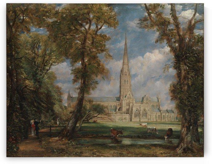 Salisbury Cathedral from the Bishop's Grounds by Jan van der Heyden