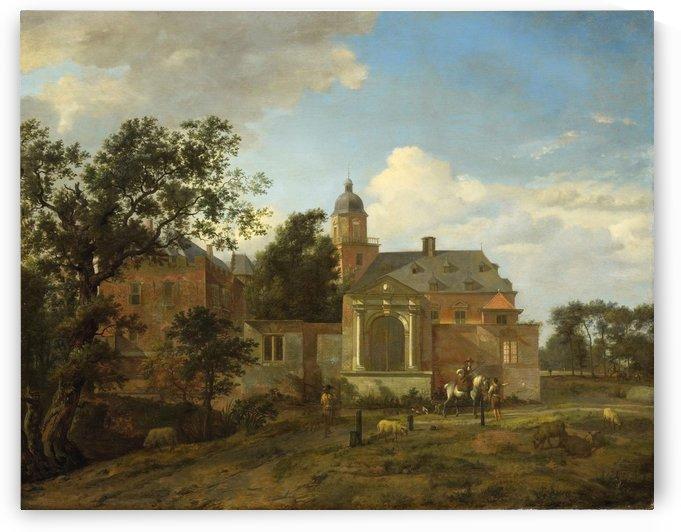 Gezicht op kasteel Nijenrode aan de Vecht by Jan van der Heyden