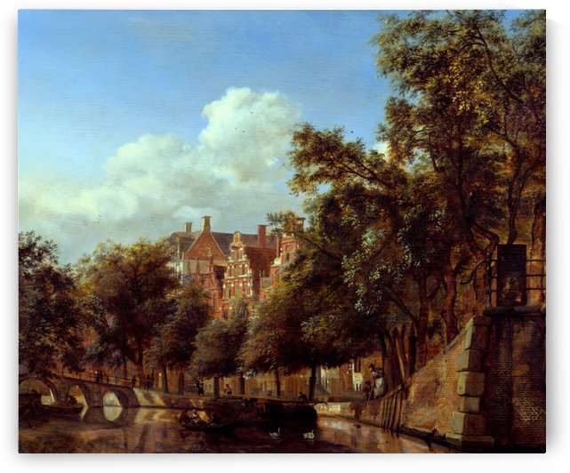 Herengracht, Amsterdam, Viewed from the Leliegracht by Jan van der Heyden