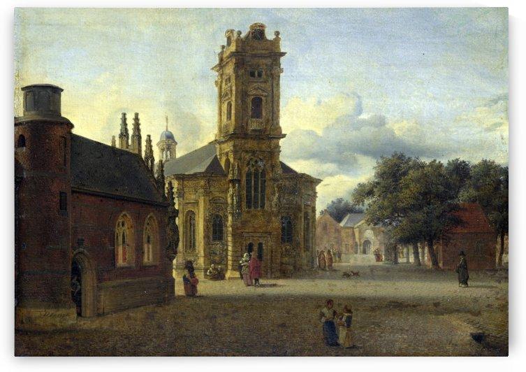 A Square Before A Church by Jan van der Heyden