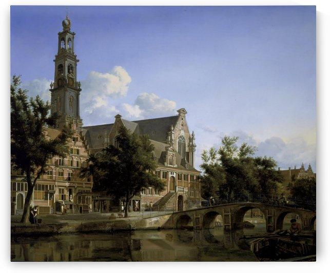 View of the Westerkerk by Jan van der Heyden