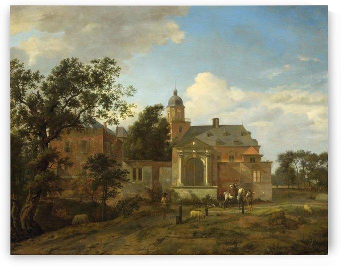 Palace with figures by Jan van der Heyden