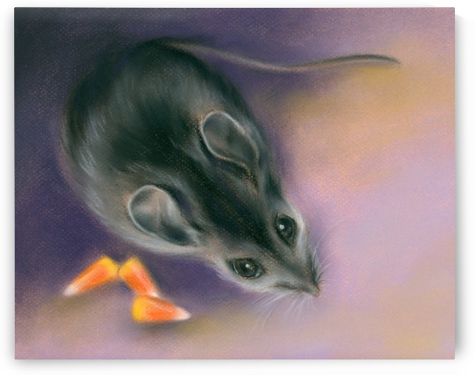 Halloween Mouse with Candy Corn by MM Anderson