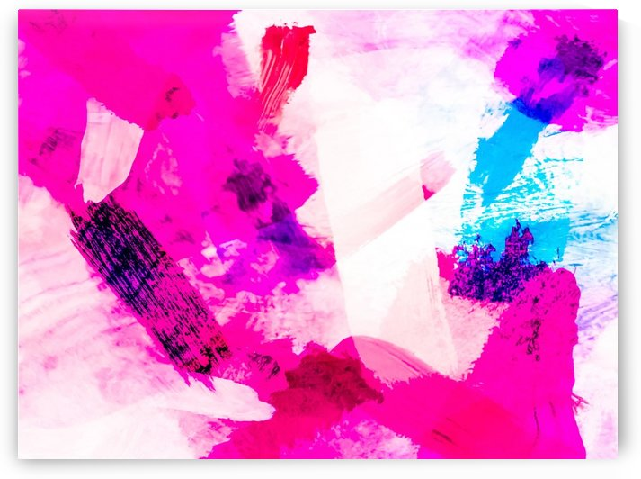 splash painting texture abstract background in pink and blue by TimmyLA