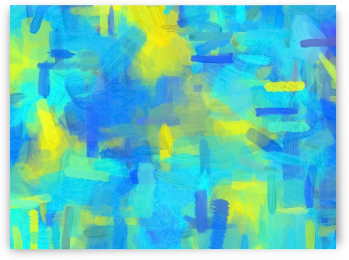 splash painting texture abstract background in blue yellow by TimmyLA