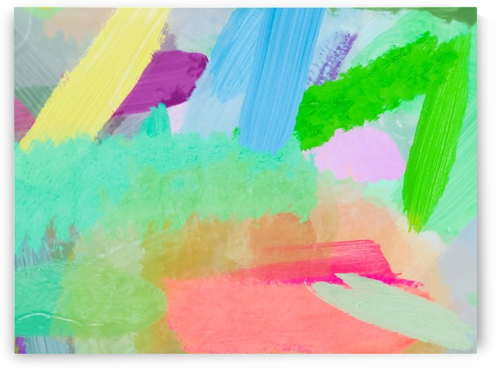 splash painting texture abstract background in green blue pink by TimmyLA
