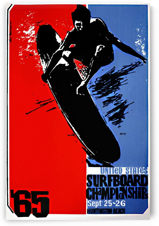 1965 UNITED STATES SURFBOARD CHAMPIONSHIPS Print - Surfing Poster by Surf Posters