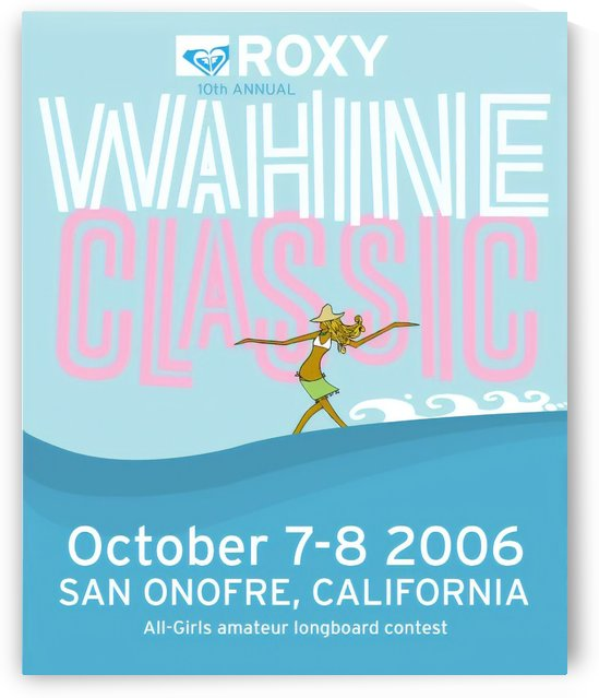 2006 ROXY Wahine Classic Print - Surfing Poster by Surf Posters