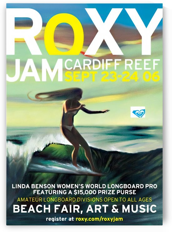 2006 ROXY Jam Cardiff Reef Print - Surfing Poster by Surf Posters