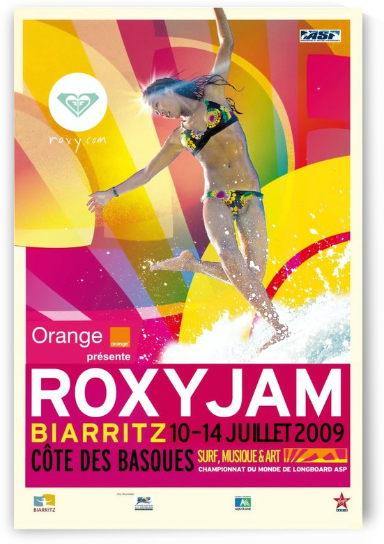 2009 ROXY Jam Biarritz Print - Surfing Poster by Surf Posters