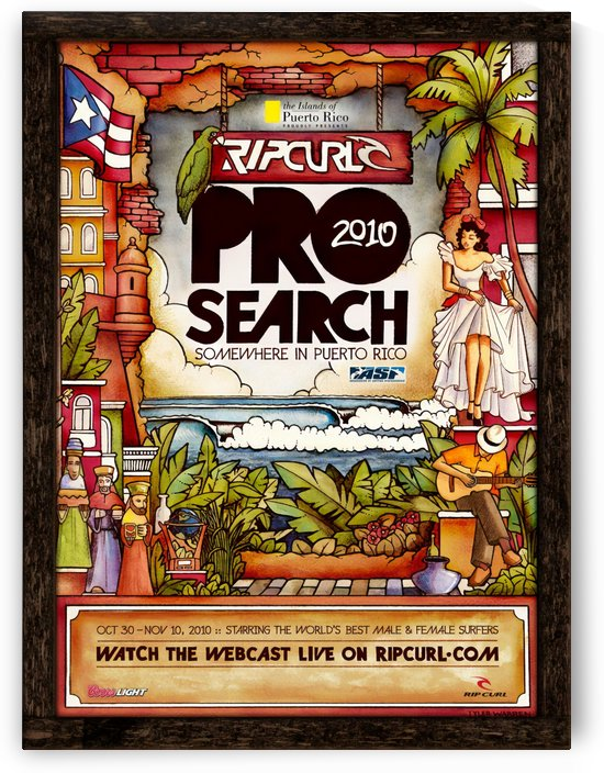 2010 RIPCURL PRO Search Print - Surfing Poster by Surf Posters