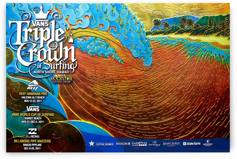 2011 VANS Triple Crown of Surfing Print - Surfing Poster by Surf Posters