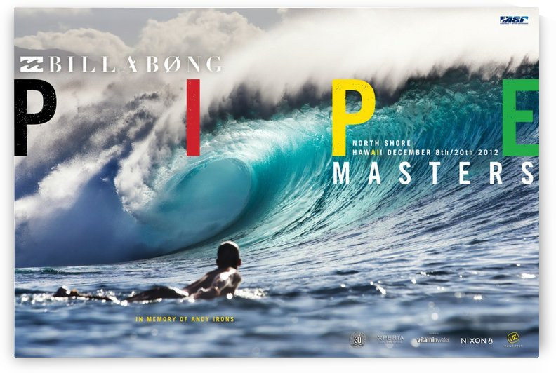 2012 BILLABONG Pipe Masters Print - Surfing Poster by Surf Posters
