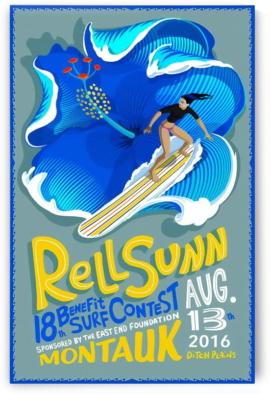 2016 RELL SUNN Surf Contest Print - Surfing Poster by Surf Posters