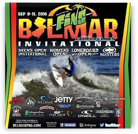 2016 BELMAR PRO Print - Surfing Poster by Surf Posters
